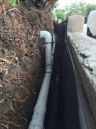 Downspout Drainage Foundation Waterproofing
